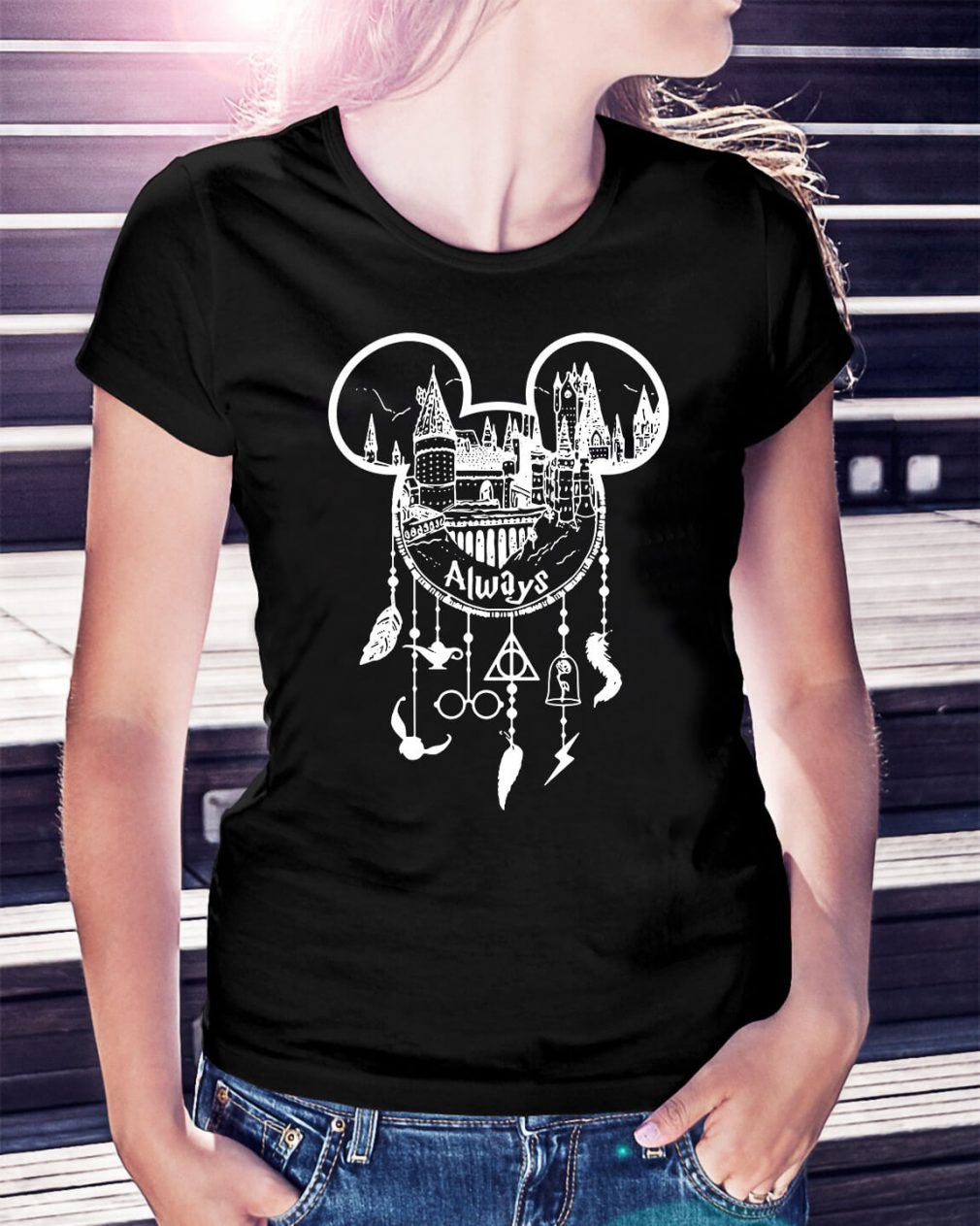 Harry Potter Always Mickey Mouse dream catcher Ladies Tee