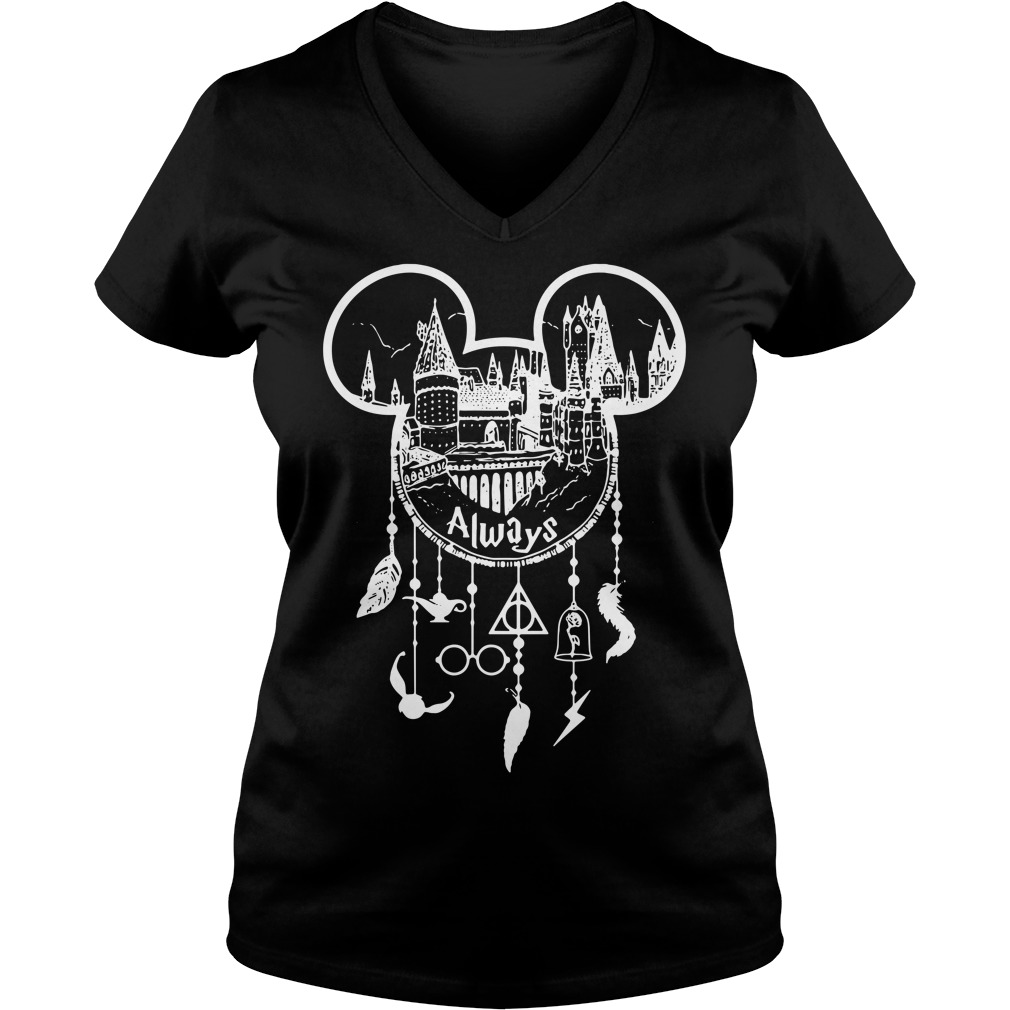 Harry Potter Always Mickey Mouse dream catcher V-neck T-shirt