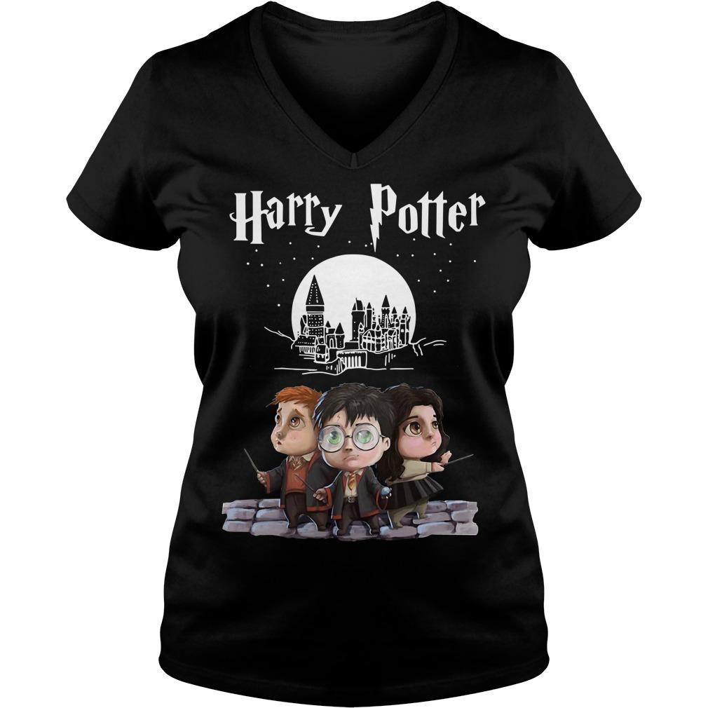 Harry Potter chibi V-neck T-shirt