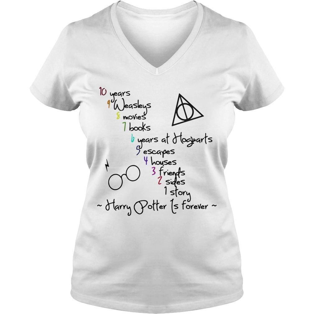 Harry Potter is forever V-neck T-shirt