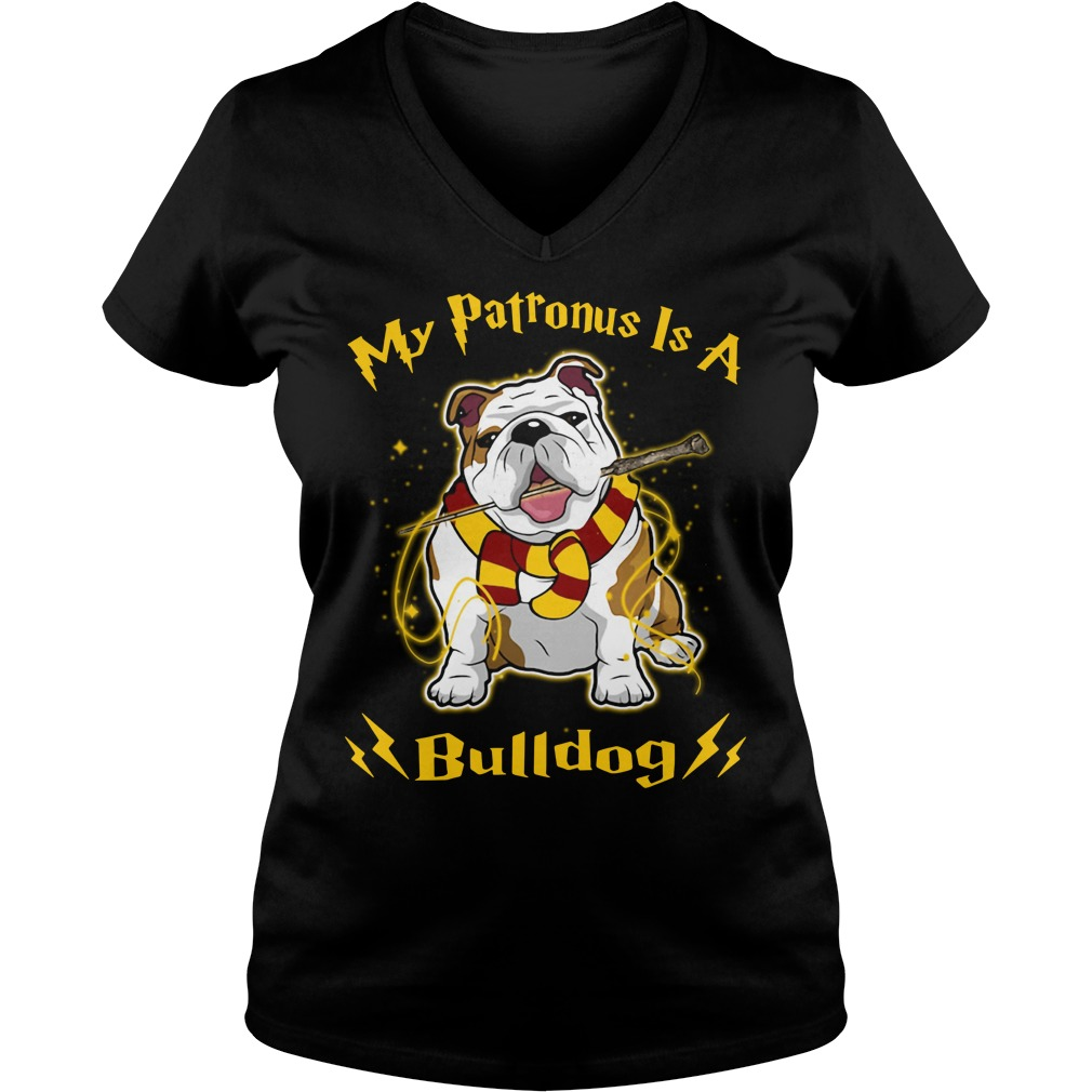 Harry Potter my Patronus is a Bulldog V-neck T-shirt