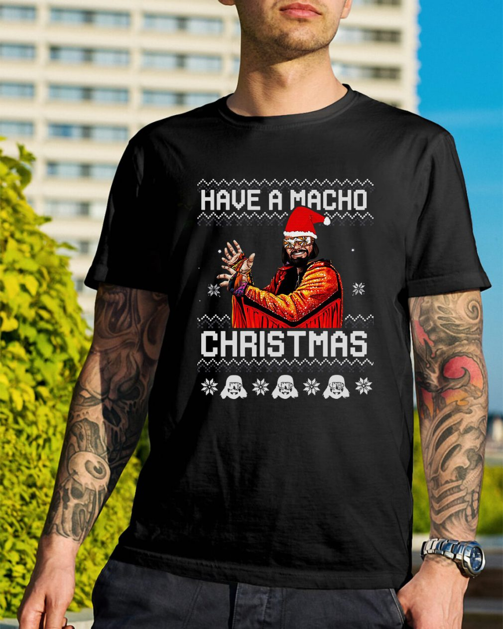 Have a Macho Christmas ugly Guys Shirt