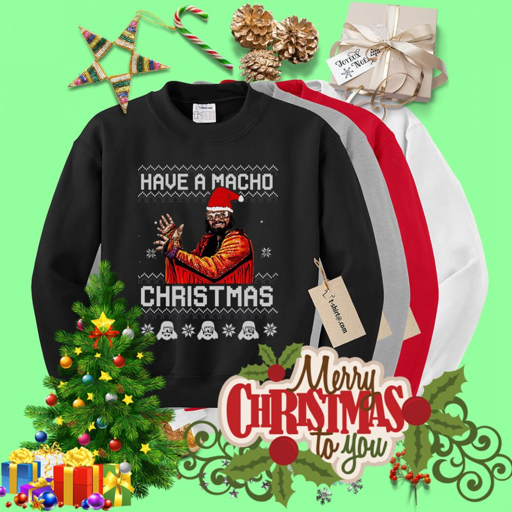 Have a Macho Christmas ugly sweater