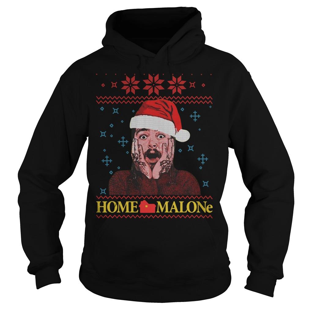 Home Malone Post Malone Christmas ugly Christmas Hoodie