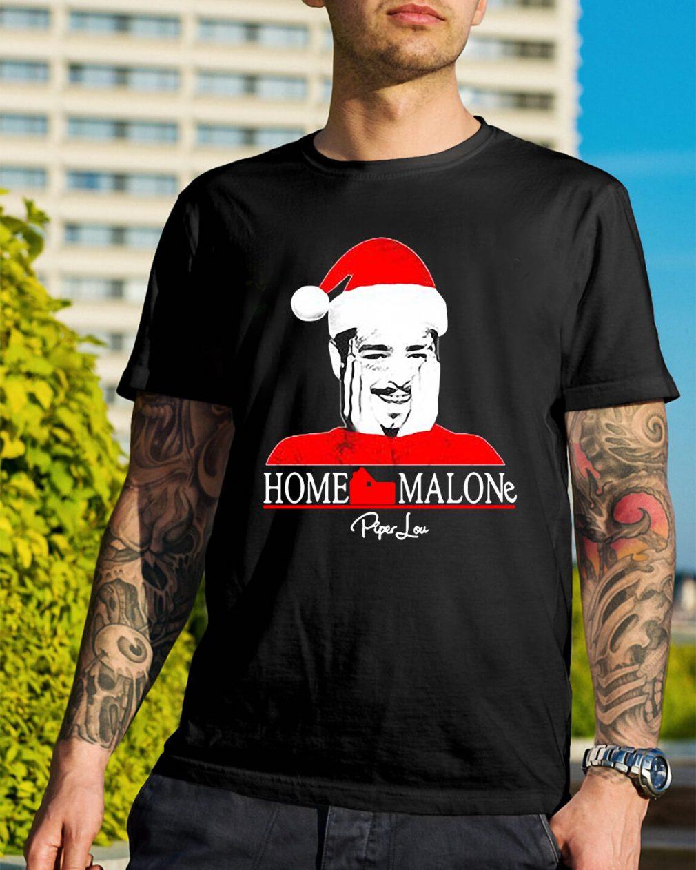 Home Malone Post Malone Santa Christmas Guys Shirt
