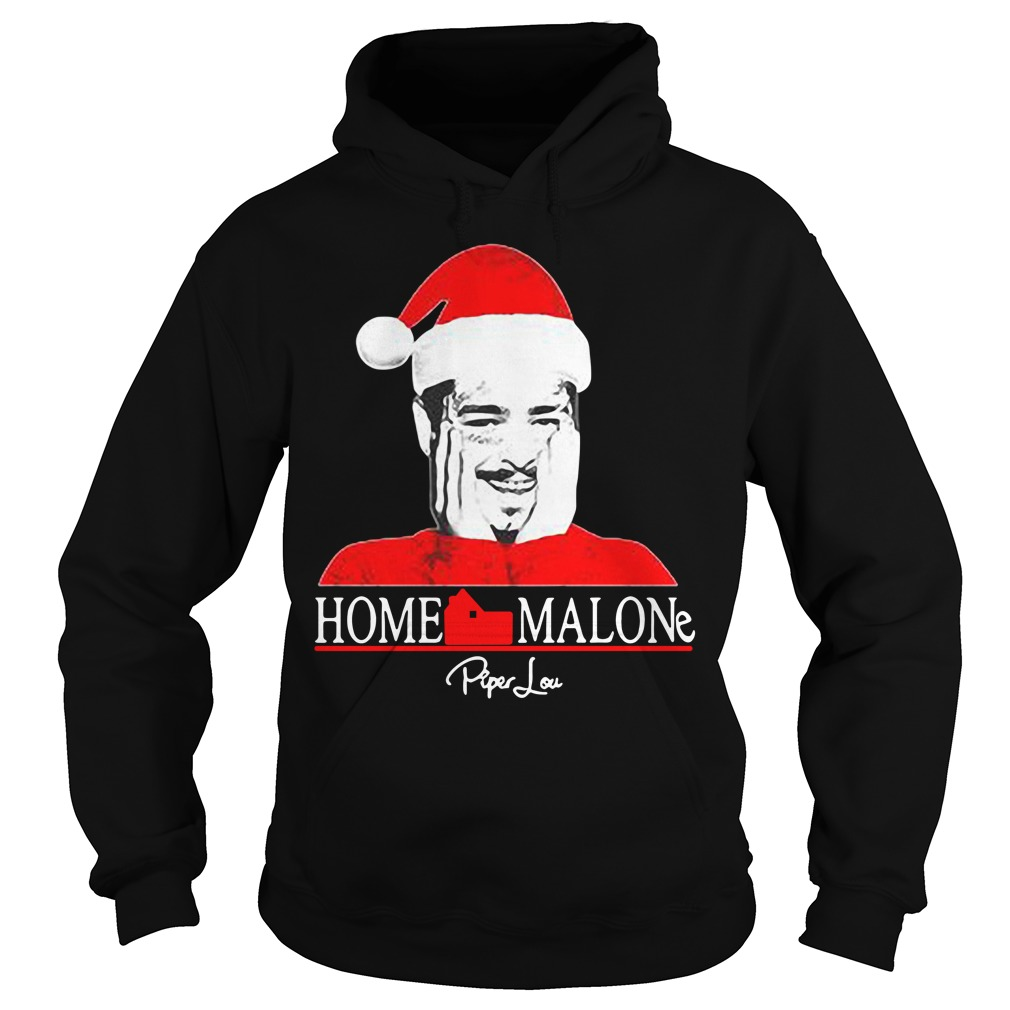 Home Malone Post Malone Santa Christmas Hoodie