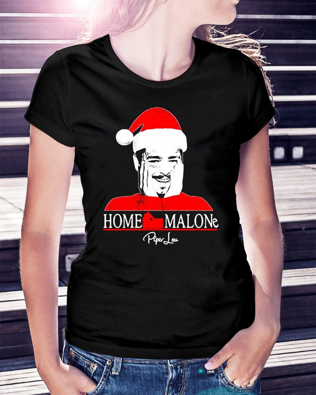 Home Malone Post Malone Santa Christmas Ladies Tee