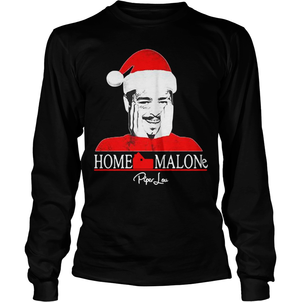 Home Malone Post Malone Santa Christmas Longsleeve Tee