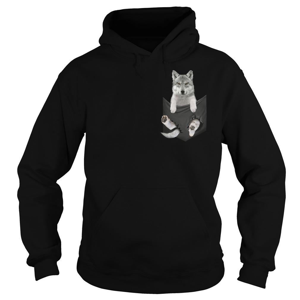 Husky in a pocket Hoodie