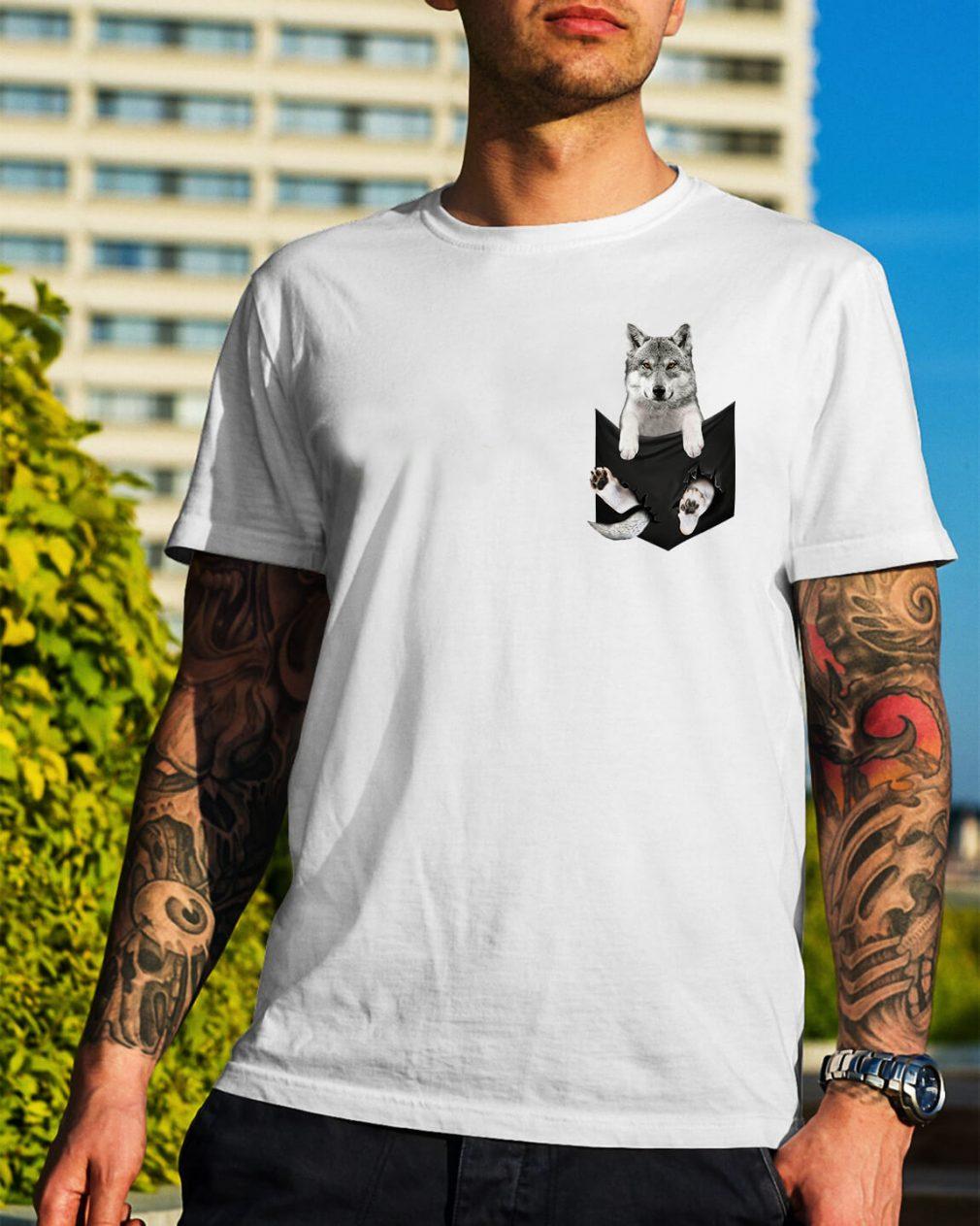 Husky in a pocket shirt