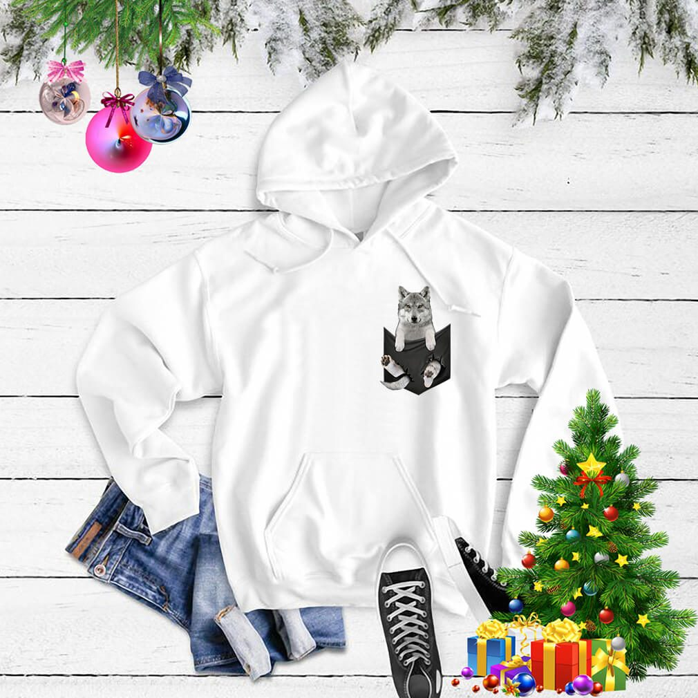 Husky in a pocket Sweater