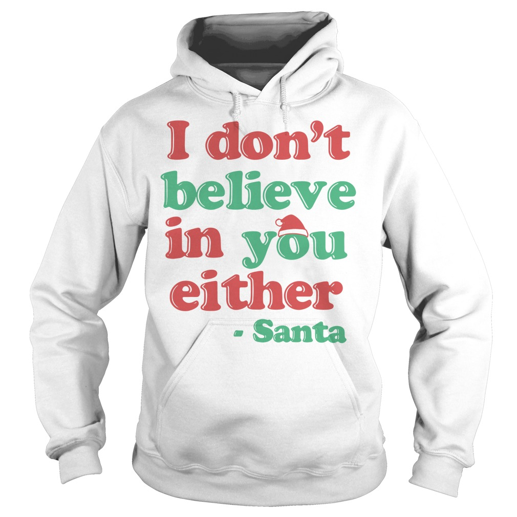 I don't believe in you either Santa Hoodie