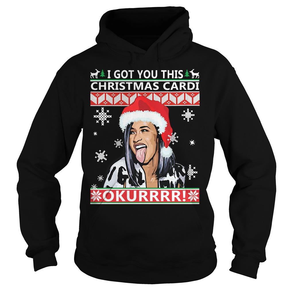 I got you this Christmas cardi Okurrr ugly Hoodie