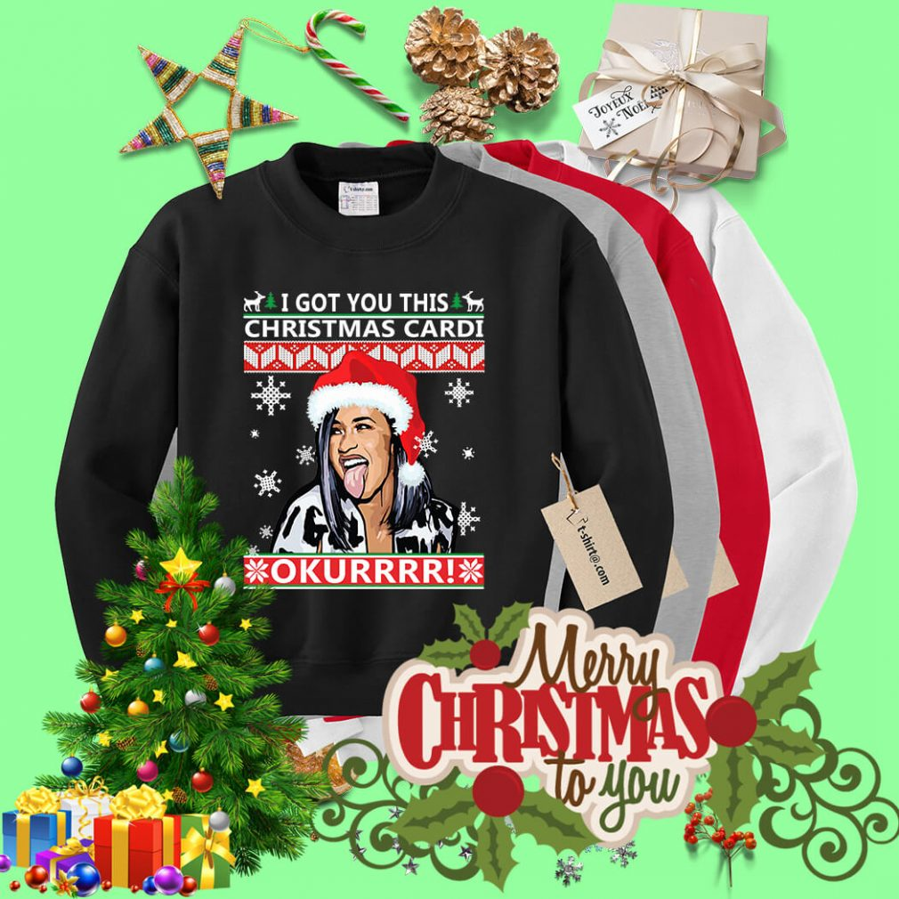 I got you this Christmas cardi Okurrr ugly sweater