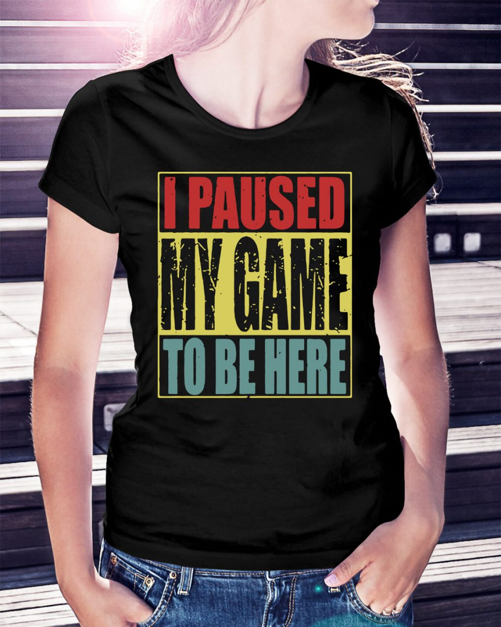 I paused my game to be here Ladies Tee