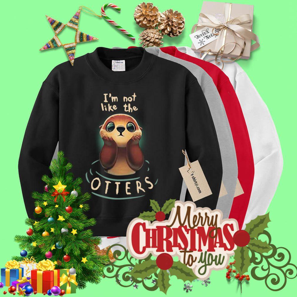 I'm not like the Otters V-neck T-shirt