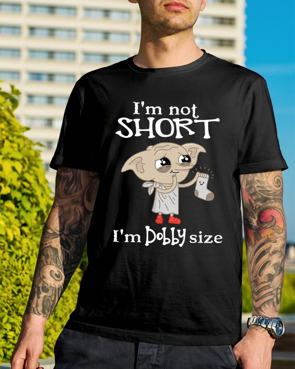 I'm not short I'm Dobby size Christmas Guys Shirt