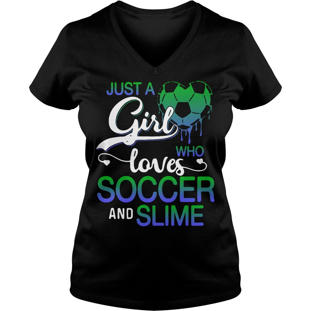 Just a girl who loves soccer and smile V-neck T-shirt