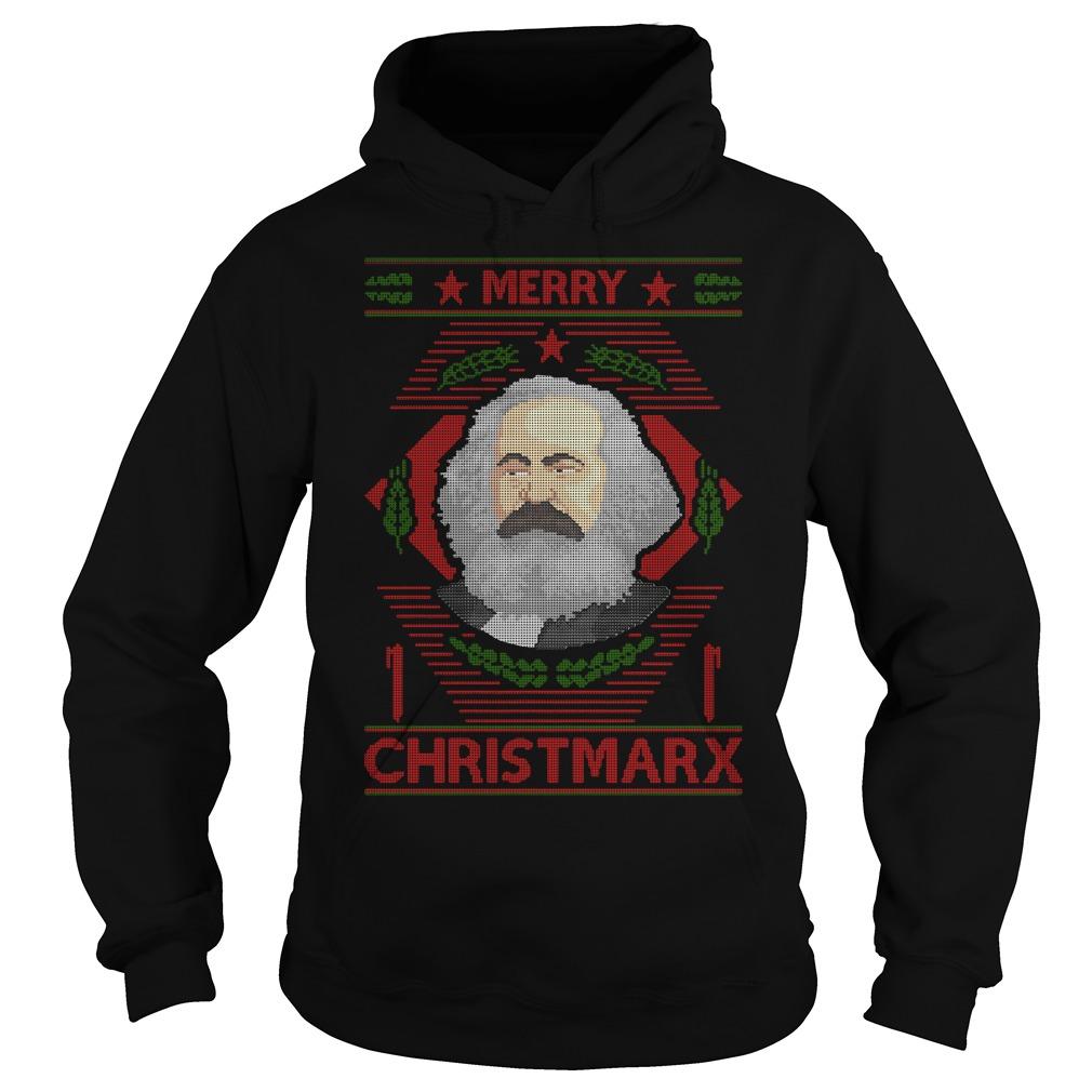 Karl Marx Merry Christmarx ugly Christmas Hoodie