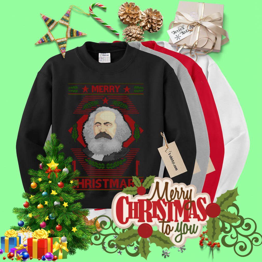 Karl Marx Merry Christmarx ugly Christmas sweater