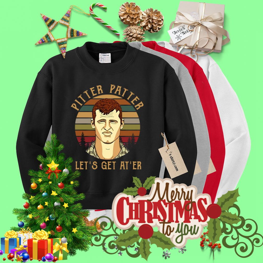 Letterkenny Pitter Patter Let's get at'er retro sunset Sweater