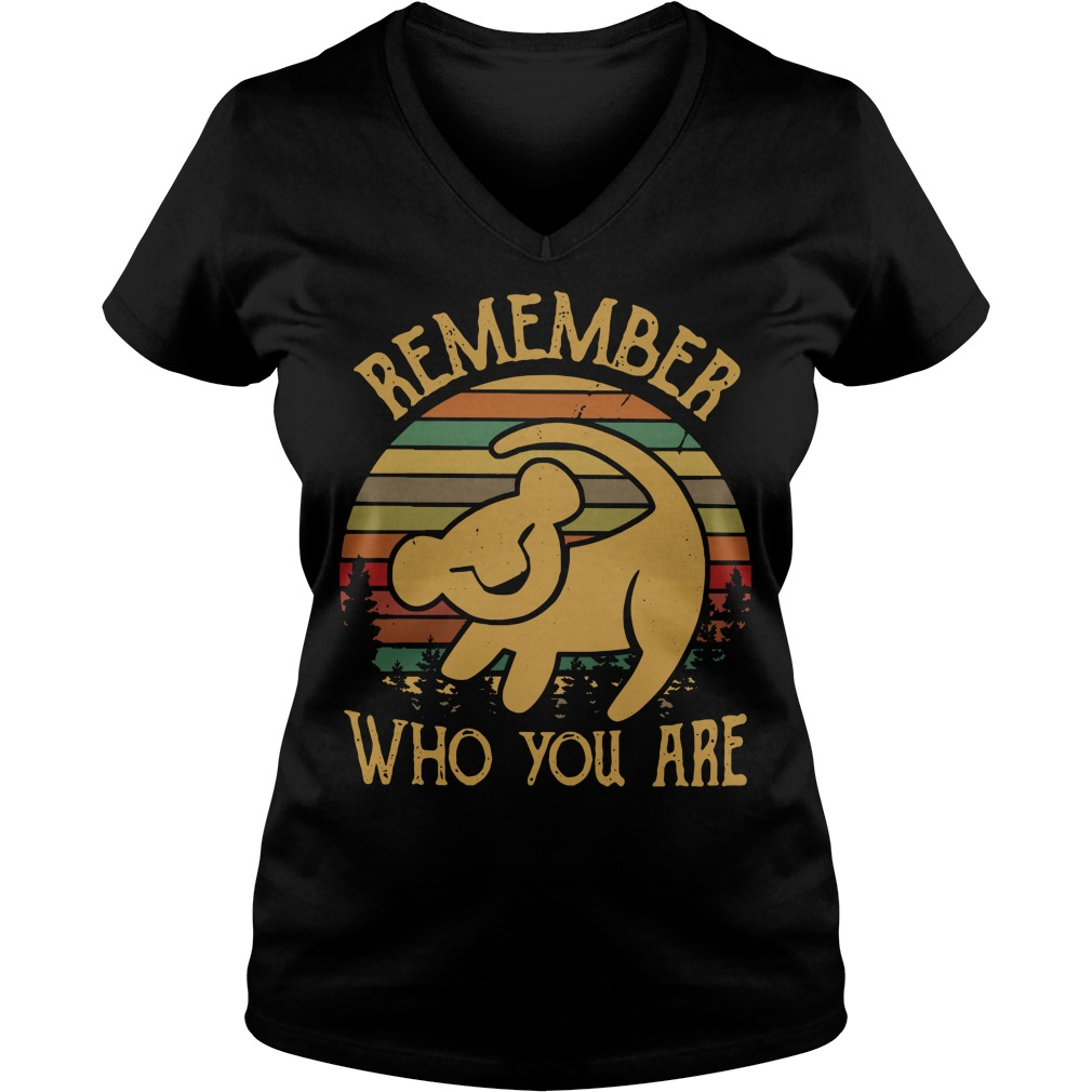 Lion King remember who you are V-neck T-shirt