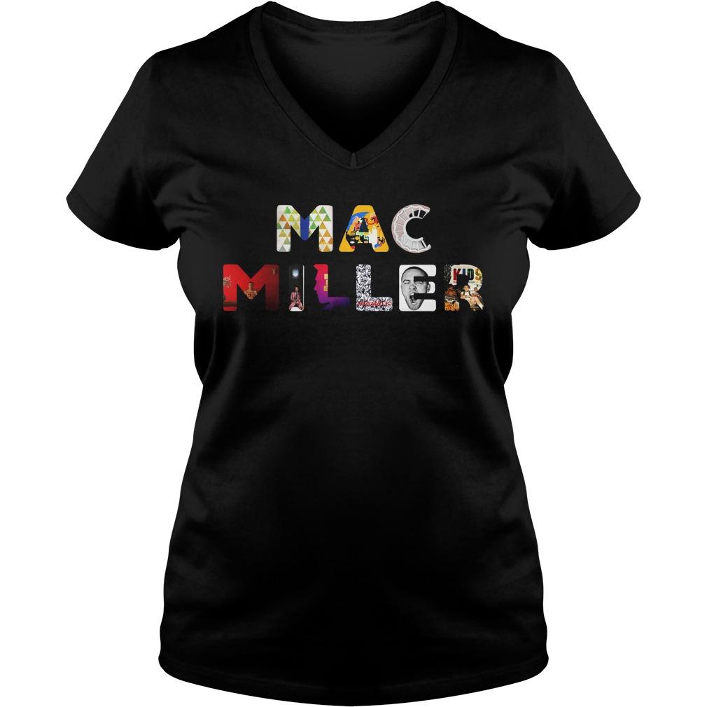 Mac Miller keep your memories alive all album V-neck T-shirt