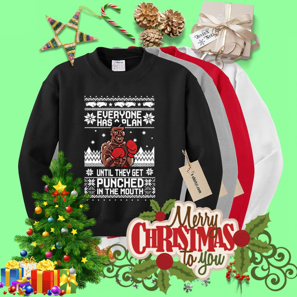 Mike Tyson Punch Everyone has a plan until ugly Christmas sweater