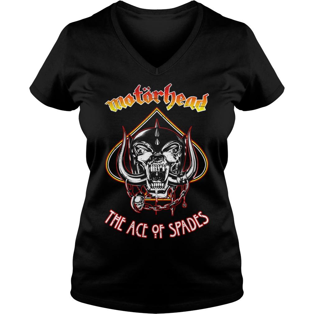 Motorhead Ace of Spades V-neck T-shirt