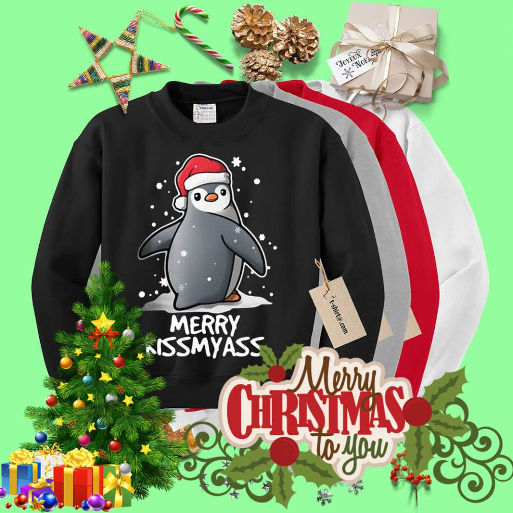 Penguin Merry kissmyass Christmas shirt, sweater