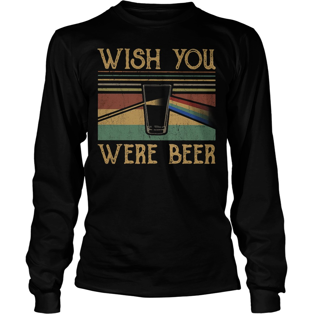Pink Floyd vintage wish you were beer Longsleeve Tee
