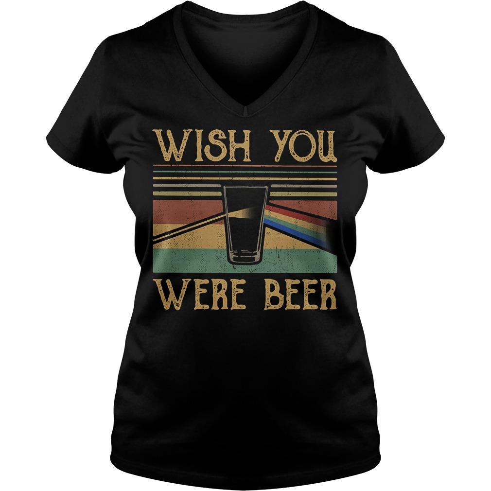 Pink Floyd vintage wish you were beer V-neck T-shirt