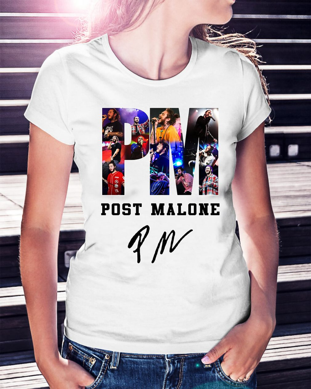 PM Post Malone Ladies Tee