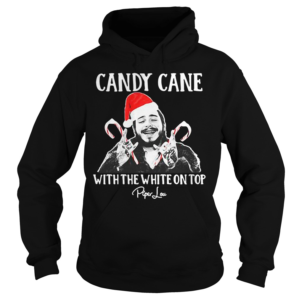 Post Malone Candy Cane with the white on top Christmas Hoodie