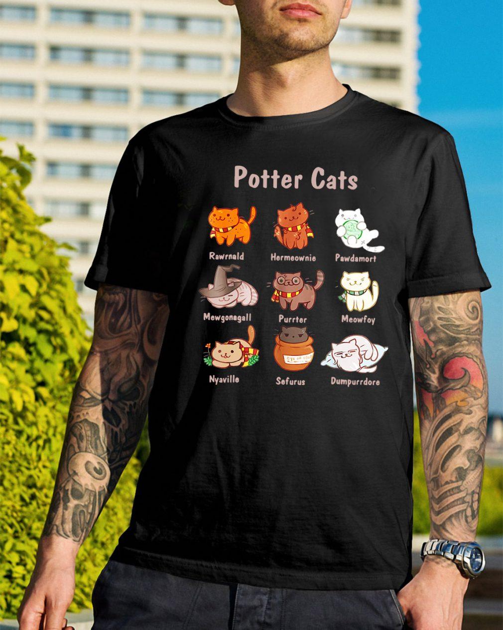 Potter cats Rawrnald Hermeownie Pawdamort shirt