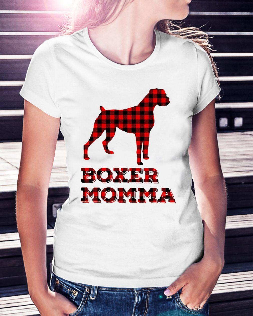 Pug Boxer Momma Ladies Tee