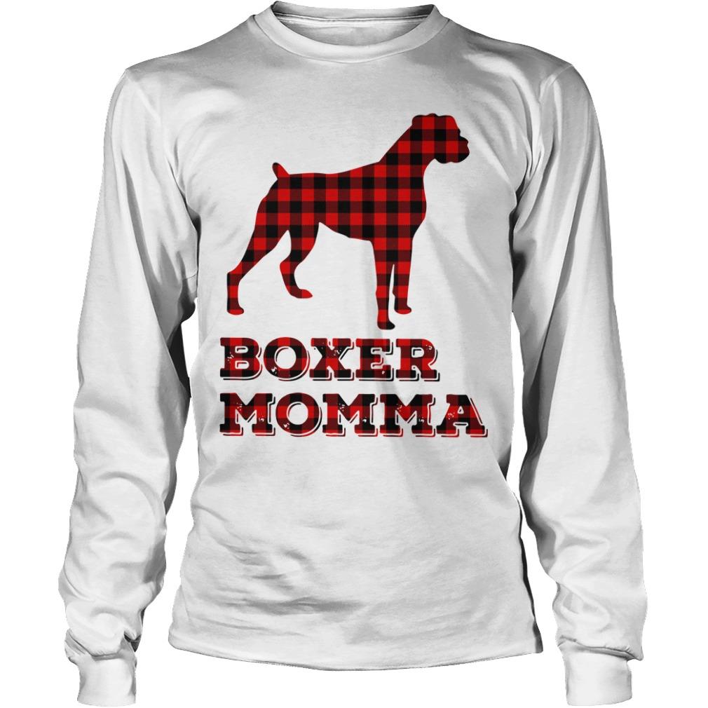 Pug Boxer Momma Longsleeve Tee