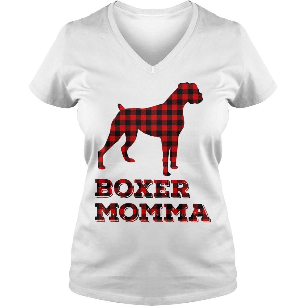 Pug Boxer Momma V-neck T-shirt