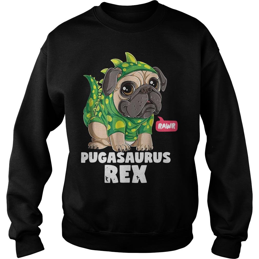 Rawr Pugasaurus Rex Sweater