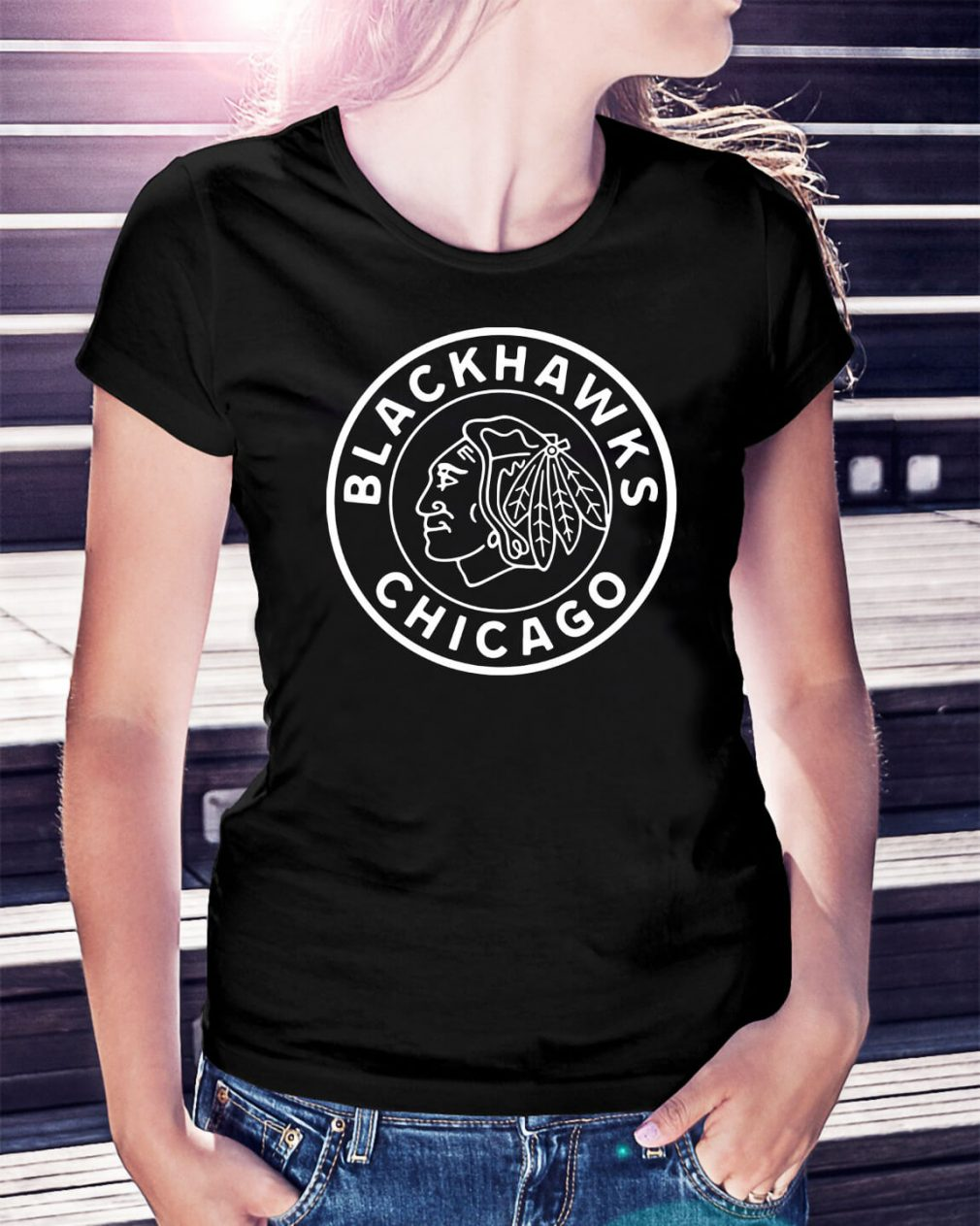 Reebok Blackhawks Chicago Ladies Tee