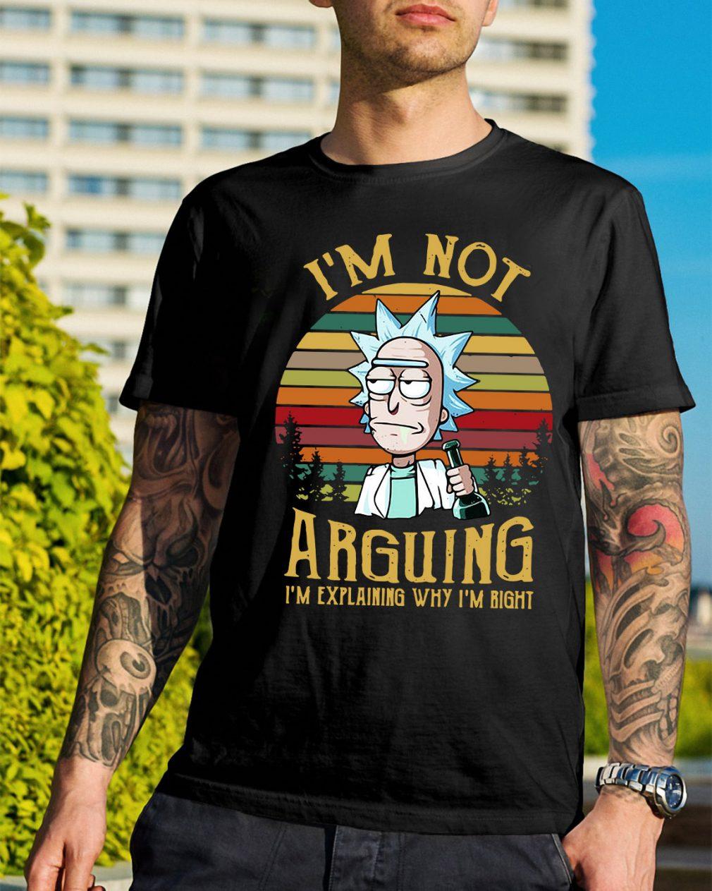 Rick and Morty I'm not arguing I'm explaining sunset retro shirt