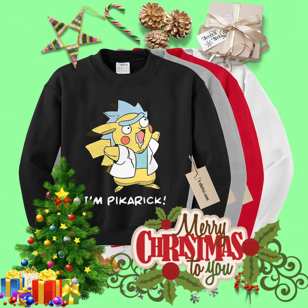 Rick Sanchez and Pikachu I'm Pikarick Sweater