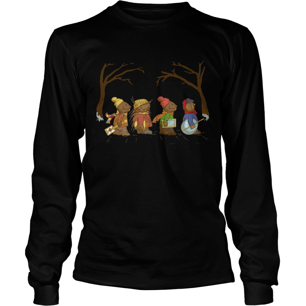 Riverbottom Nightmare Band Abbey Road Christmas Longsleeve Tee