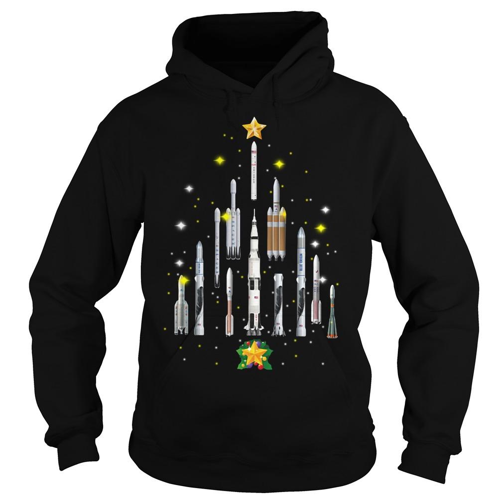 Rocket Christmas tree Hoodie