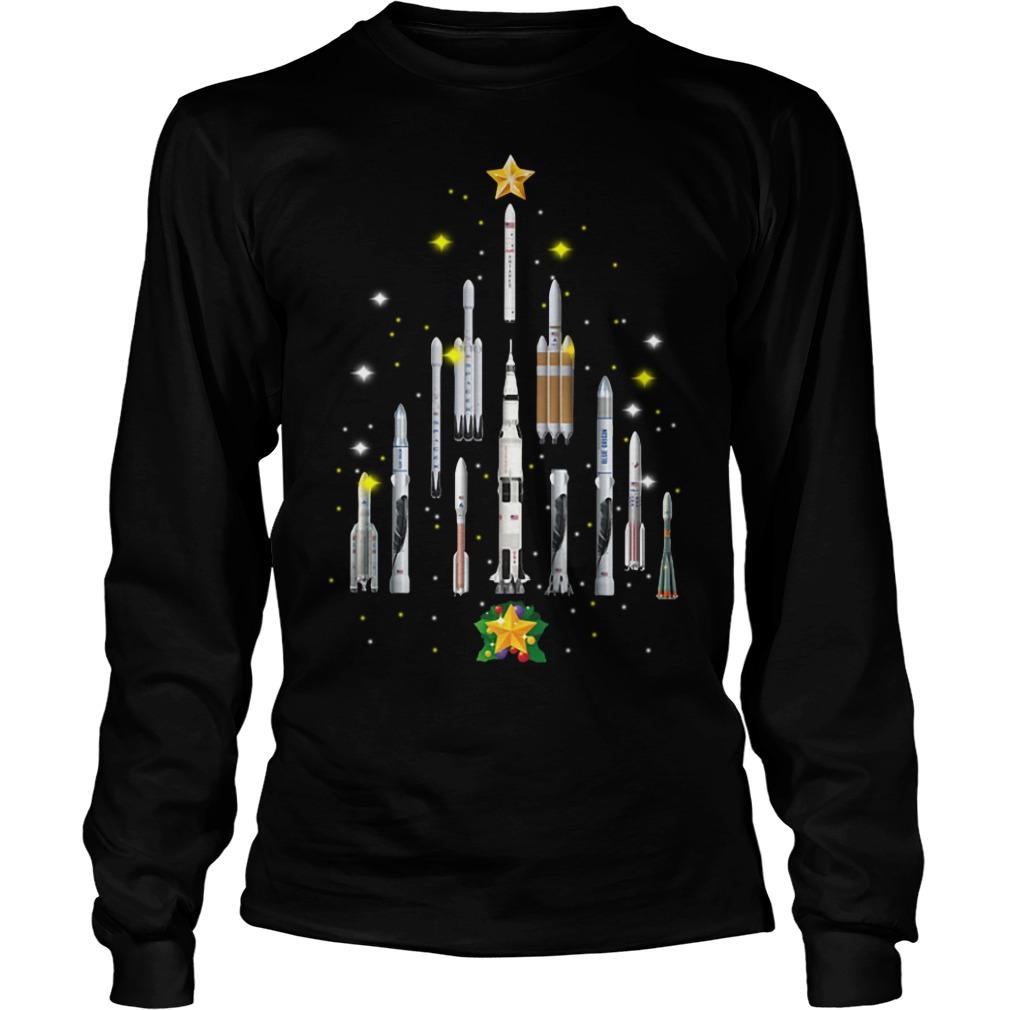 Rocket Christmas tree Longsleeve Tee