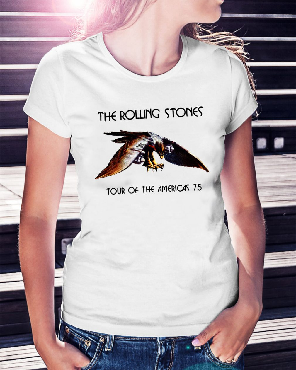 The rolling stone tour of the Americas 75 Ladies Tee