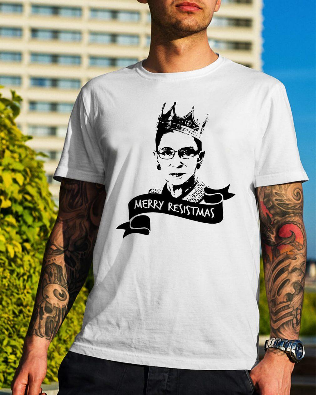 Ruth Bader Ginsburg Merry Resistmas shirt