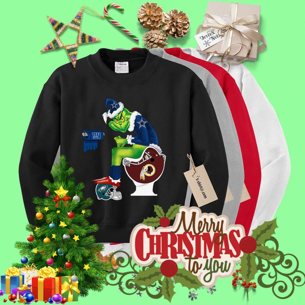 Santa Grinch Dallas Cowboys Toilet Christmas shirt, sweater