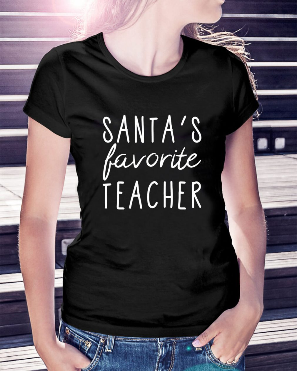Santa's favorite teacher Ladies Tee