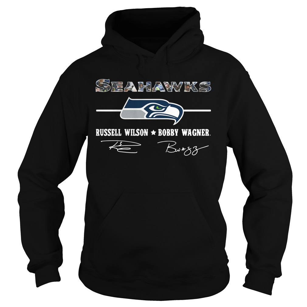 Seahawks Russell Wilson Bobby Wagner Signature Hoodie
